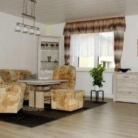 Bild große Sitzecke im Wohnzimmer
